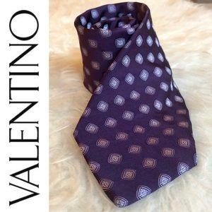 Valentino purple luxury silk tie, made in Italy